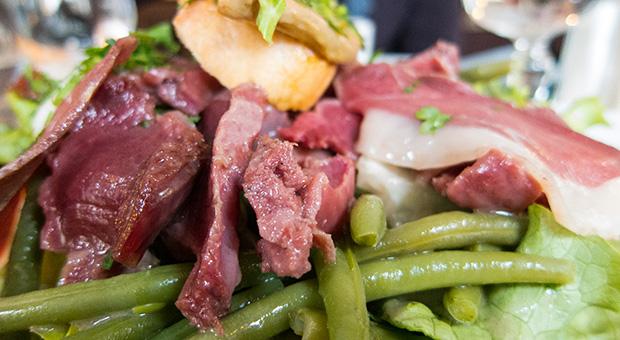 Le concorde - Salade landaise au magret et gésier de canard, haricots verts