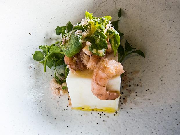 La Grenouillère - Tofu de chèvre, crevettes
