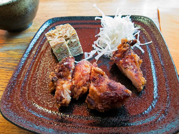 Sanukiya - Poulet frit, omelette japonaise