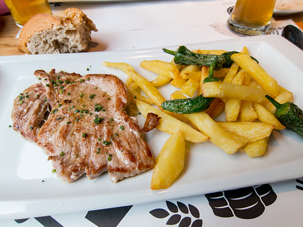 La Tape - Madrid - Escalope et frites