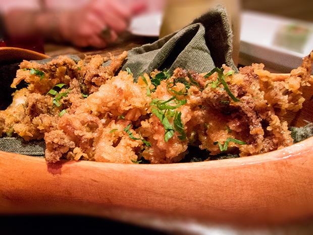 Dans les Landes - Chipirons frits aux piments doux