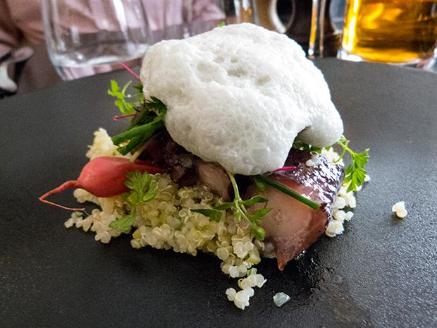 Blue Valentine - Poulpe confit, salade de quinoa, écume de verveine