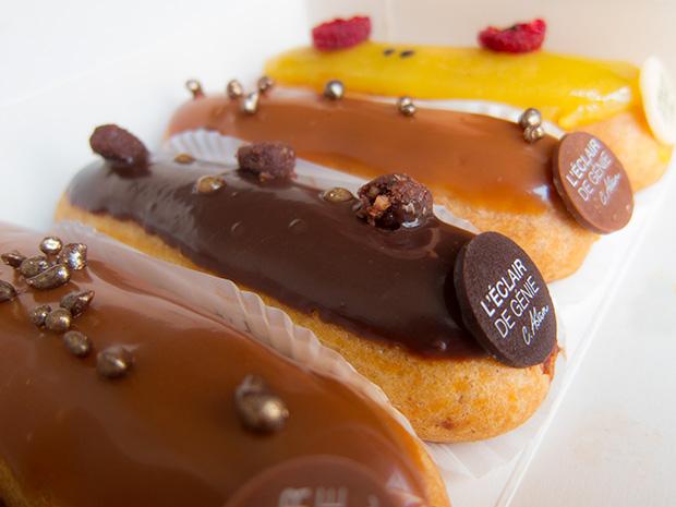Eclair de génie - Caramel beurre salé, chocolat grand cru, fruit de la passion