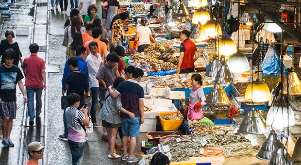 Marché aux poissons Noryangjin