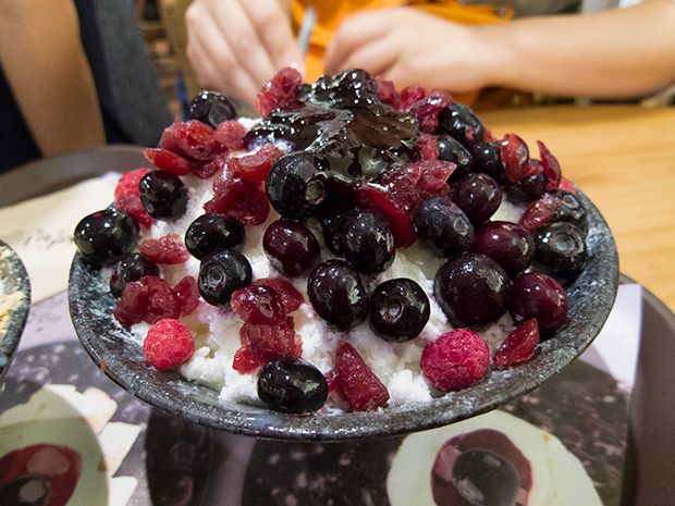 Seolbing - Patbingsu aux fruits rouges