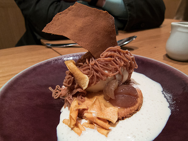 Anicia - Marron Imbert, soupe crémeuse au whisky, glace topinambour